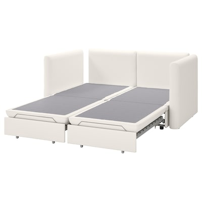 VALLENTUNA 2-seat modular sofa w 2 sofa-beds, Murum white