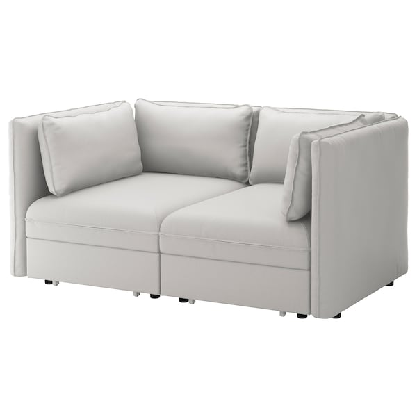 Astounding 2 Seat Modular Sofa W 2 Sofa Beds Vallentuna Ramna Light Grey Ocoug Best Dining Table And Chair Ideas Images Ocougorg