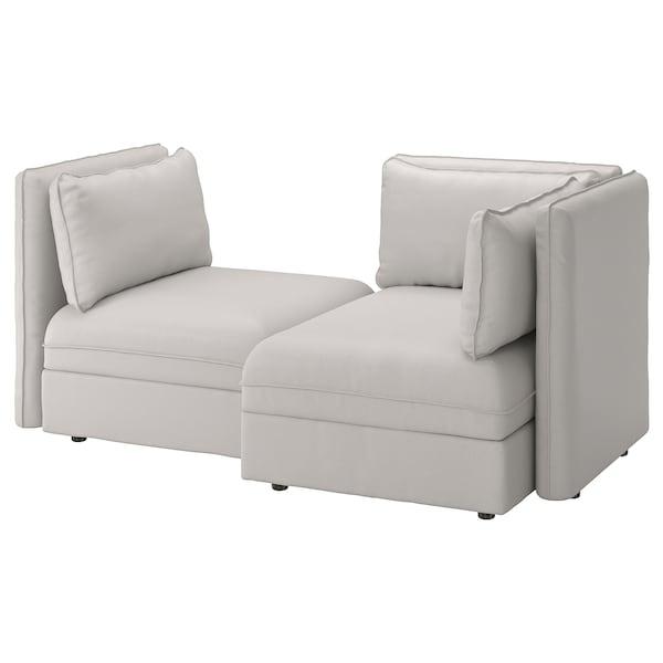 Miraculous 2 Seat Modular Sofa With Sofa Bed Vallentuna And Storage Ramna Light Grey Lamtechconsult Wood Chair Design Ideas Lamtechconsultcom