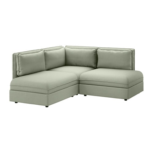 vallentuna 3 seat corner sofa hillared green ikea. Black Bedroom Furniture Sets. Home Design Ideas