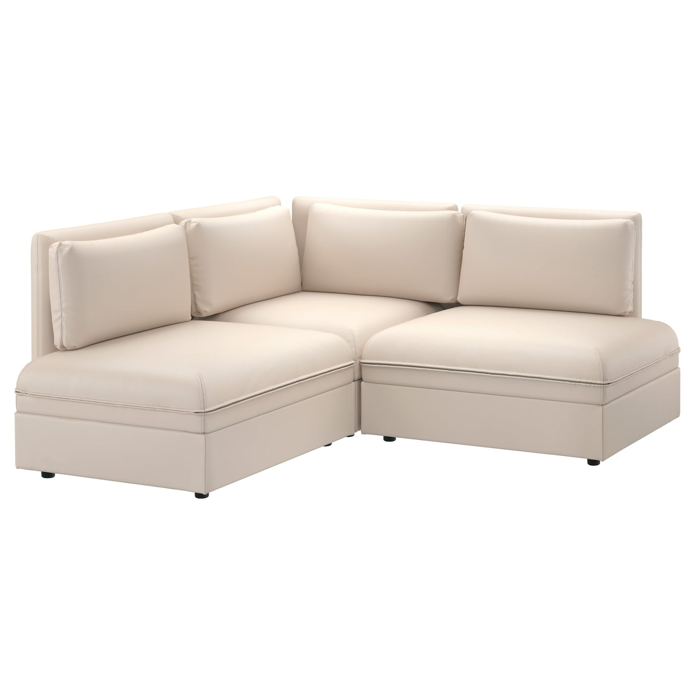 Vallentuna 3 seat corner sofa murum beige ikea for Sofa aufblasbar