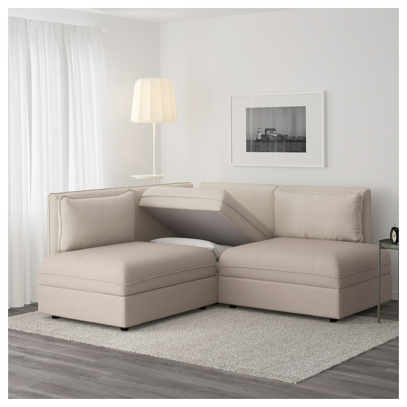 IKEA VALLENTUNA 3-seat corner sofa with bed