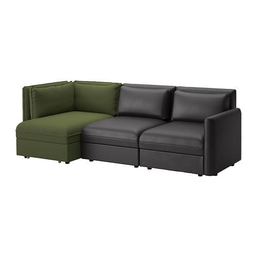 VALLENTUNA 3-seat Modular Sofa With Sofa-bed And Storage