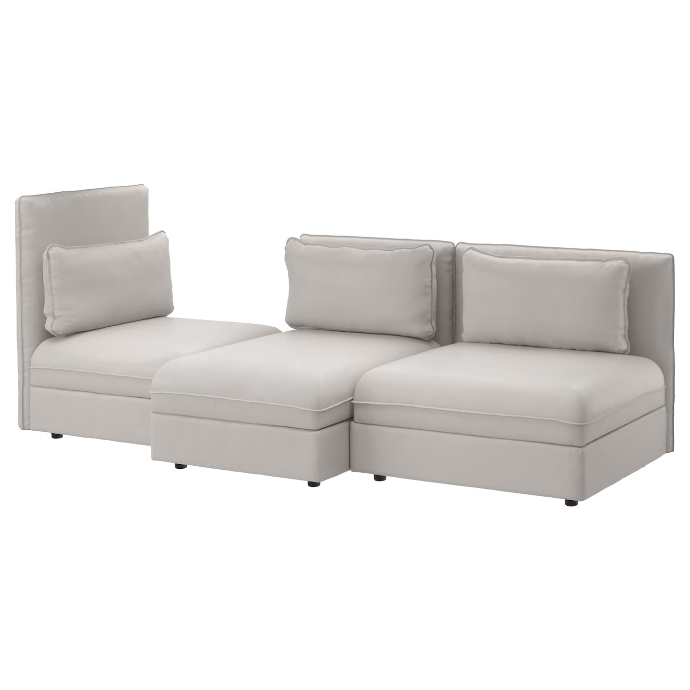 Vallentuna 3 seat sofa ramna light grey ikea for Ikea couch planer