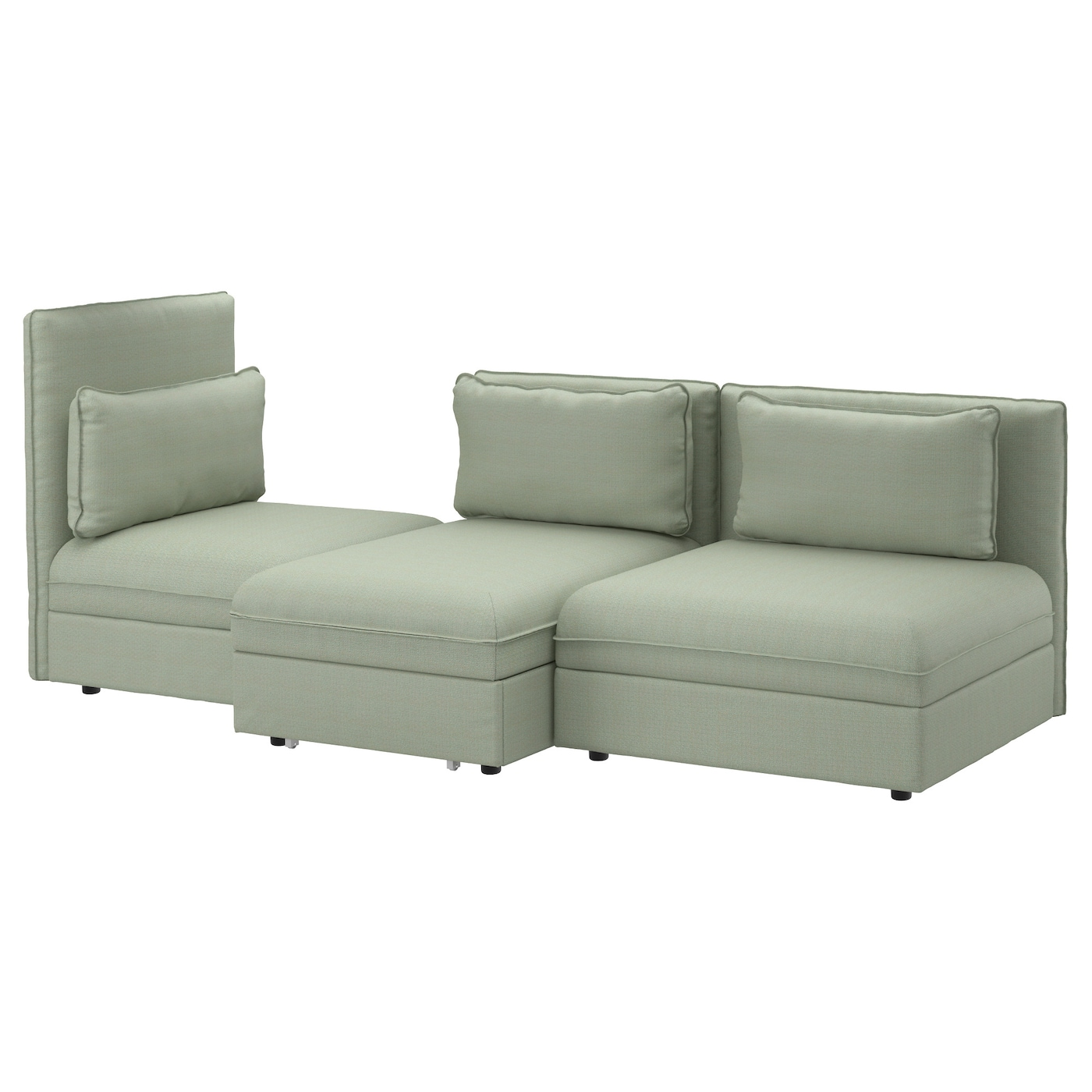 Vallentuna 3 seat sofa with bed hillared green ikea for Ikea couch planer