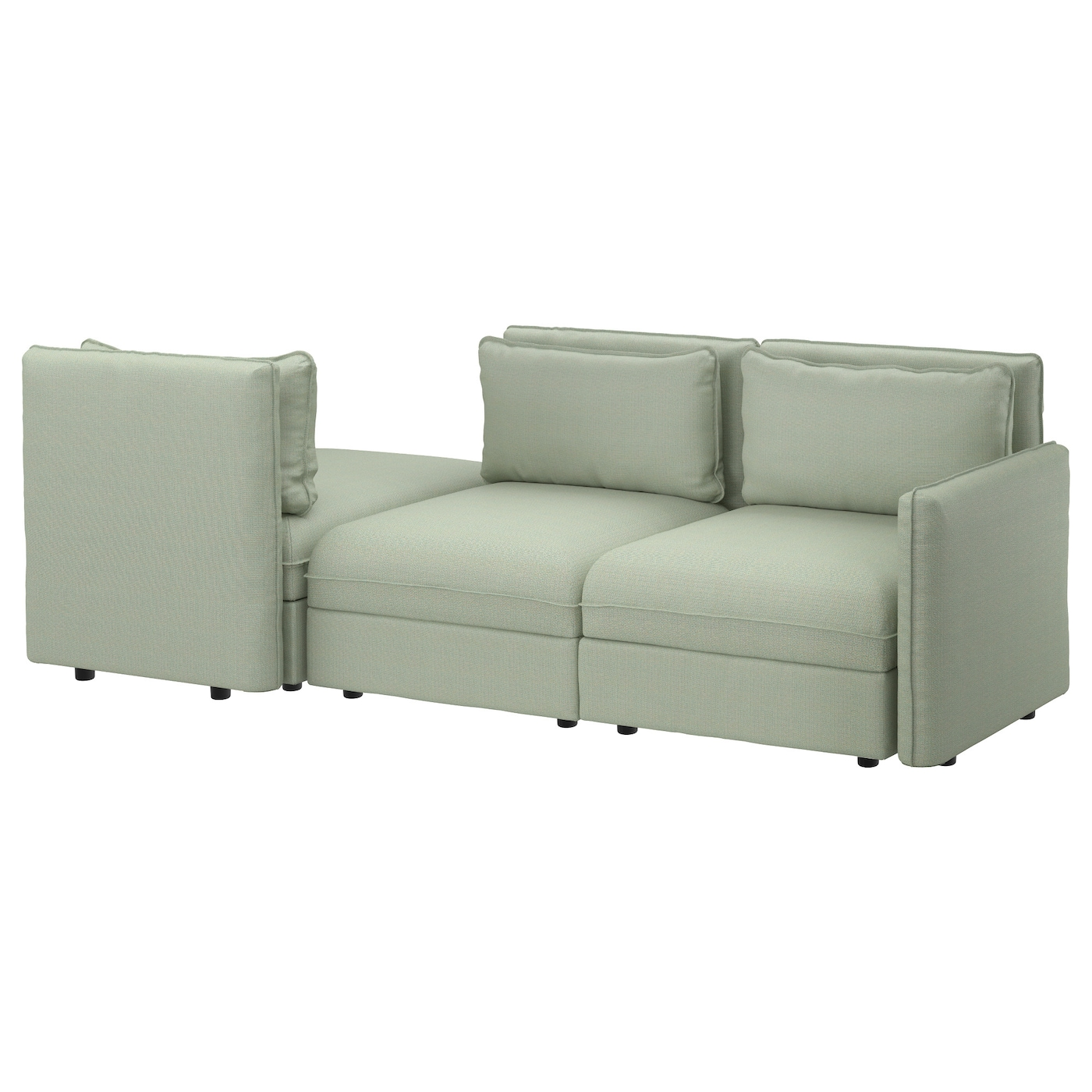 VALLENTUNA 3 seat sofa with bed Hillared green IKEA