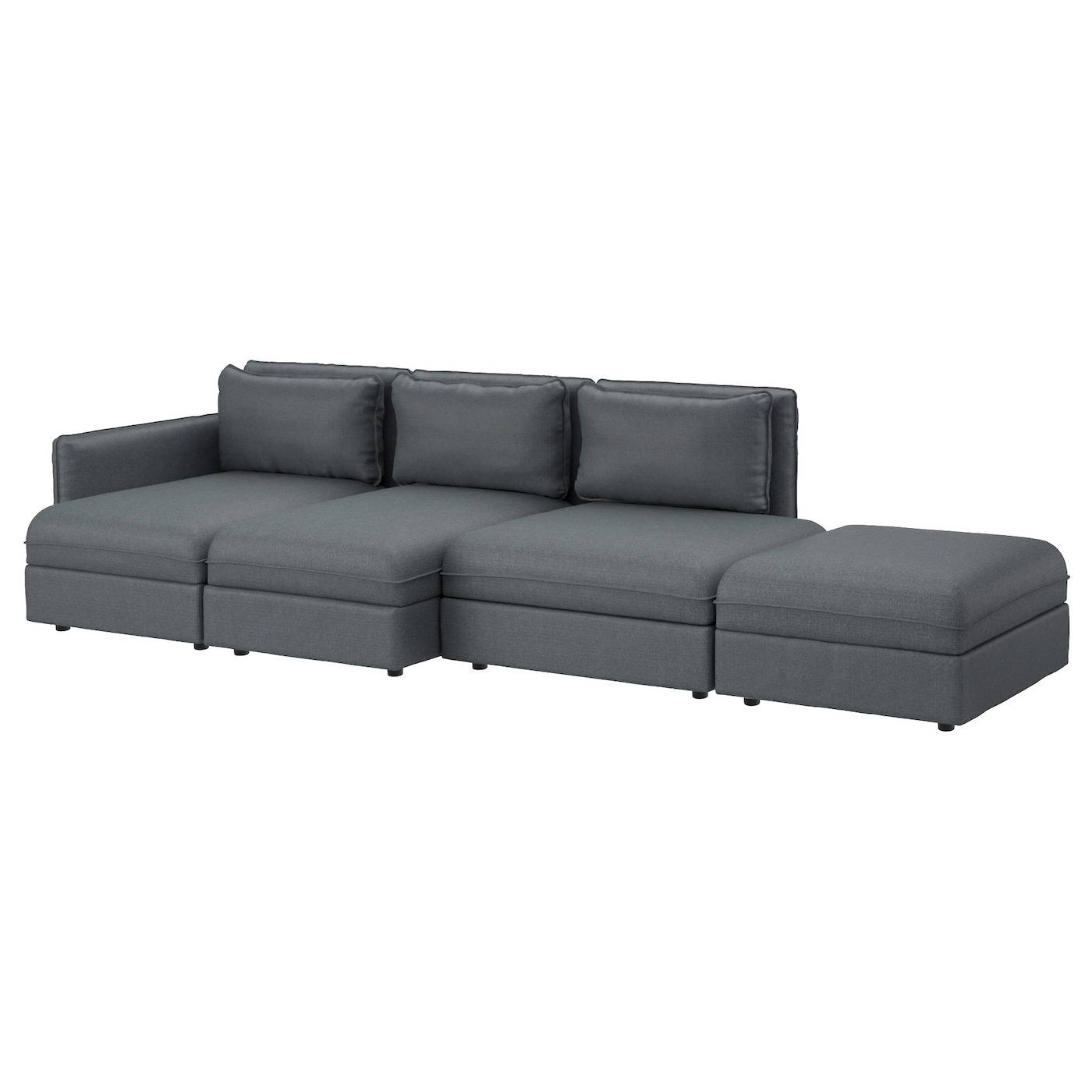 Vallentuna 4 seat sofa hillared dark grey ikea for Ikea couch planer