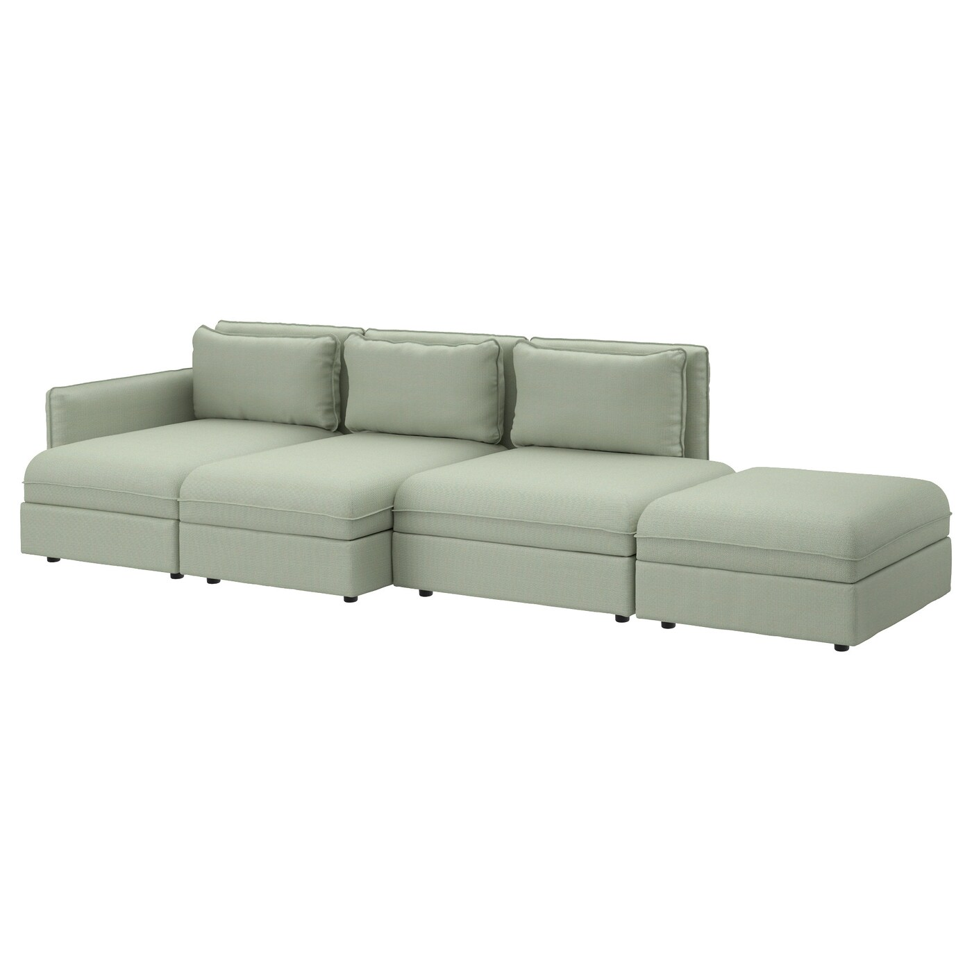 vallentuna 4 seat sofa hillared green ikea. Black Bedroom Furniture Sets. Home Design Ideas