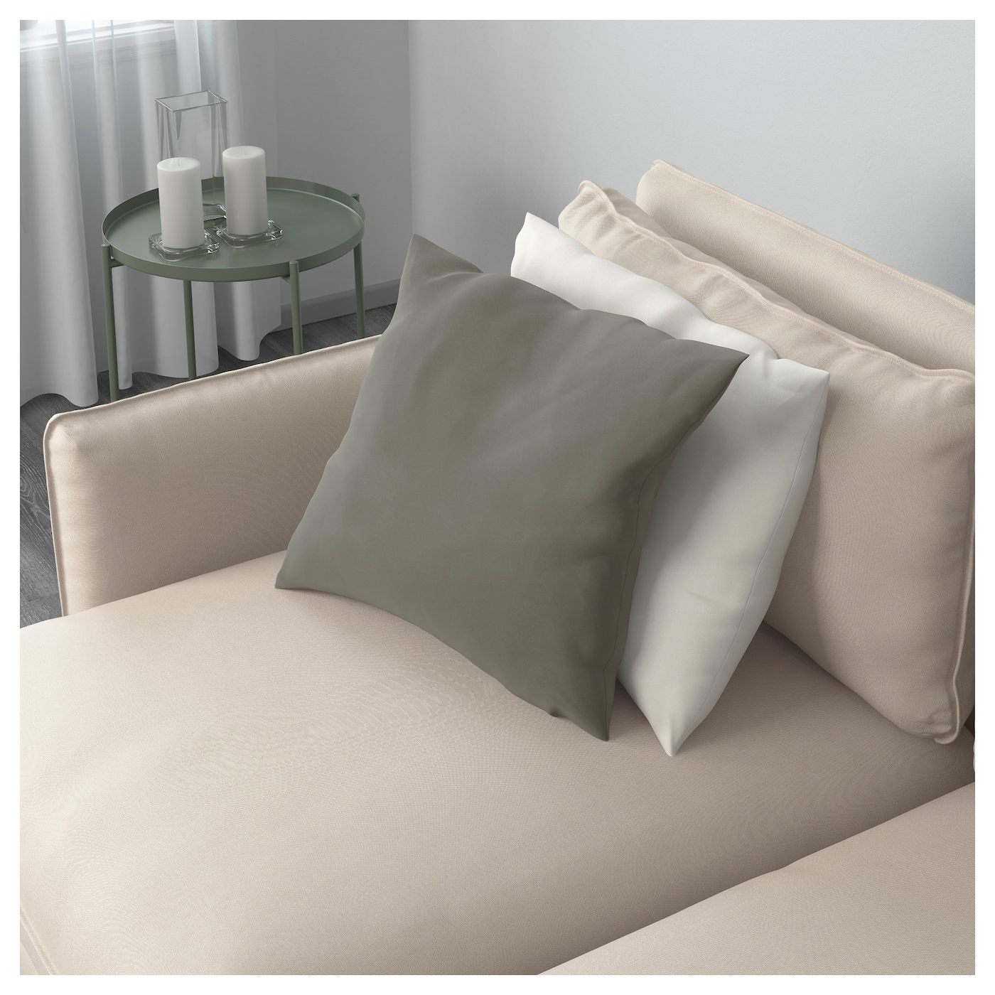 VALLENTUNA 4 seat sofa Ramna dark beige IKEA