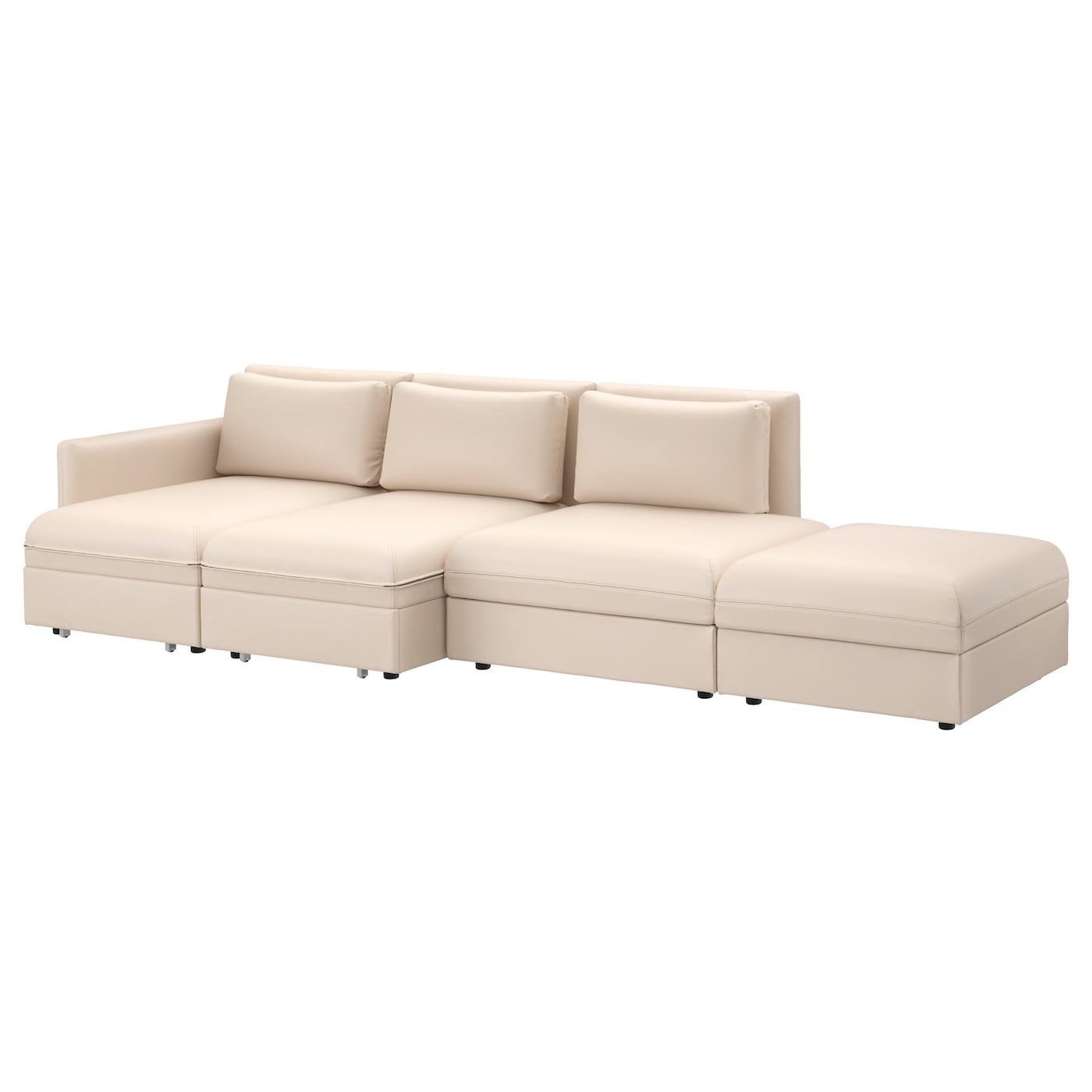 vallentuna 4 seat sofa with bed murum beige ikea. Black Bedroom Furniture Sets. Home Design Ideas