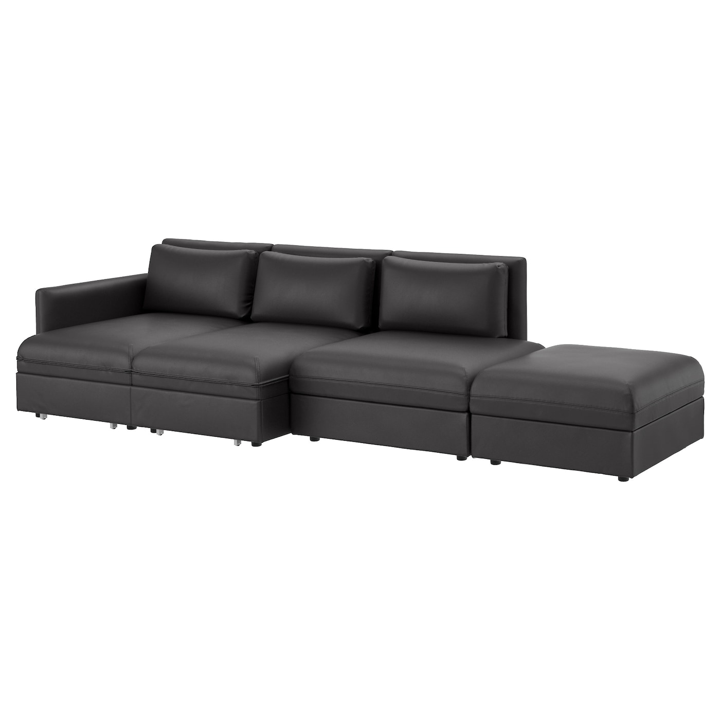 Vallentuna 4 seat sofa with bed murum black ikea for Ikea couch planer