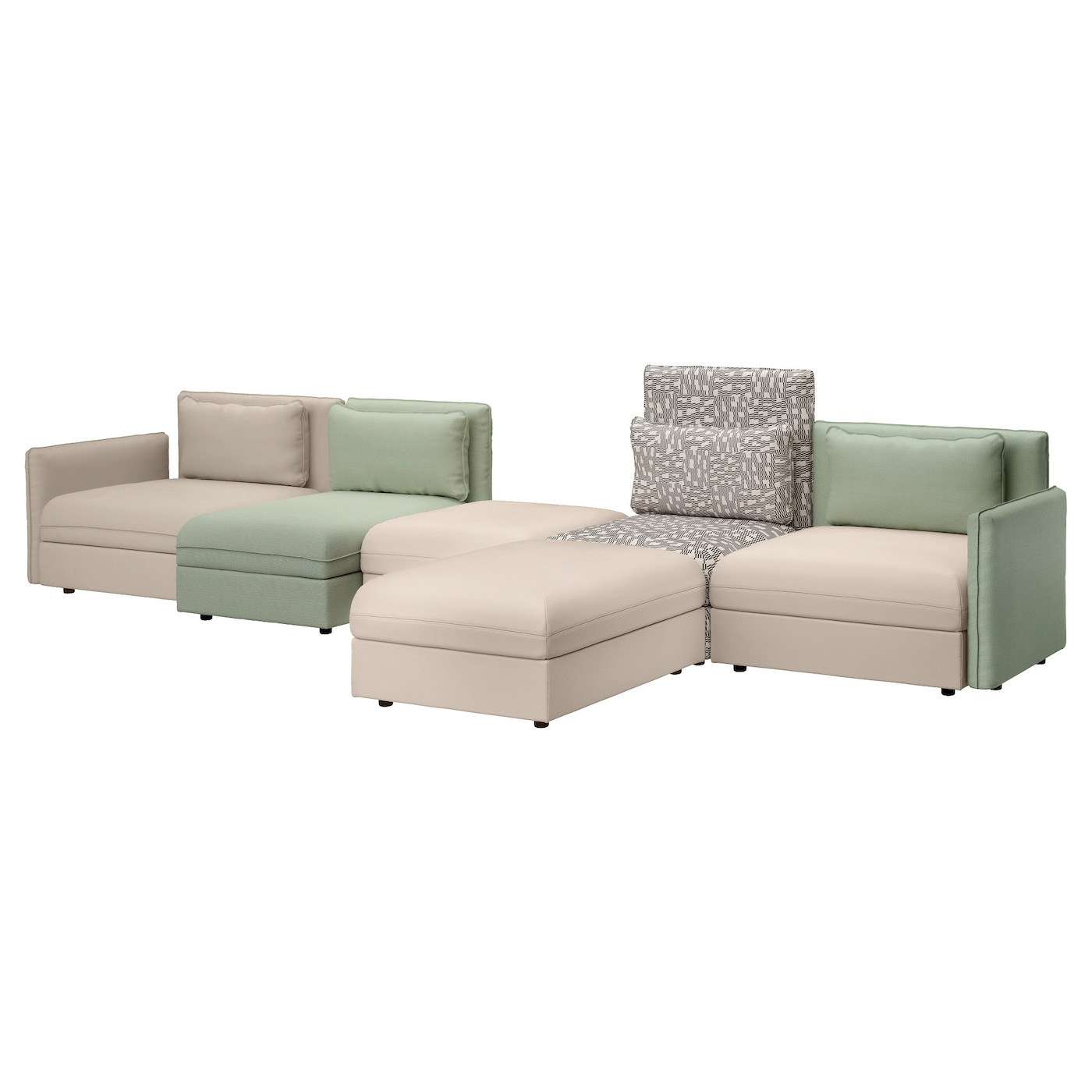 Vallentuna 5 Seat Sofa Murum Beige Hillared Green Ikea