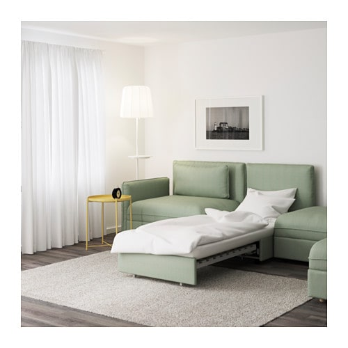 Vallentuna 5 seat sofa with bed hillared green ikea - Vallentuna ikea ...