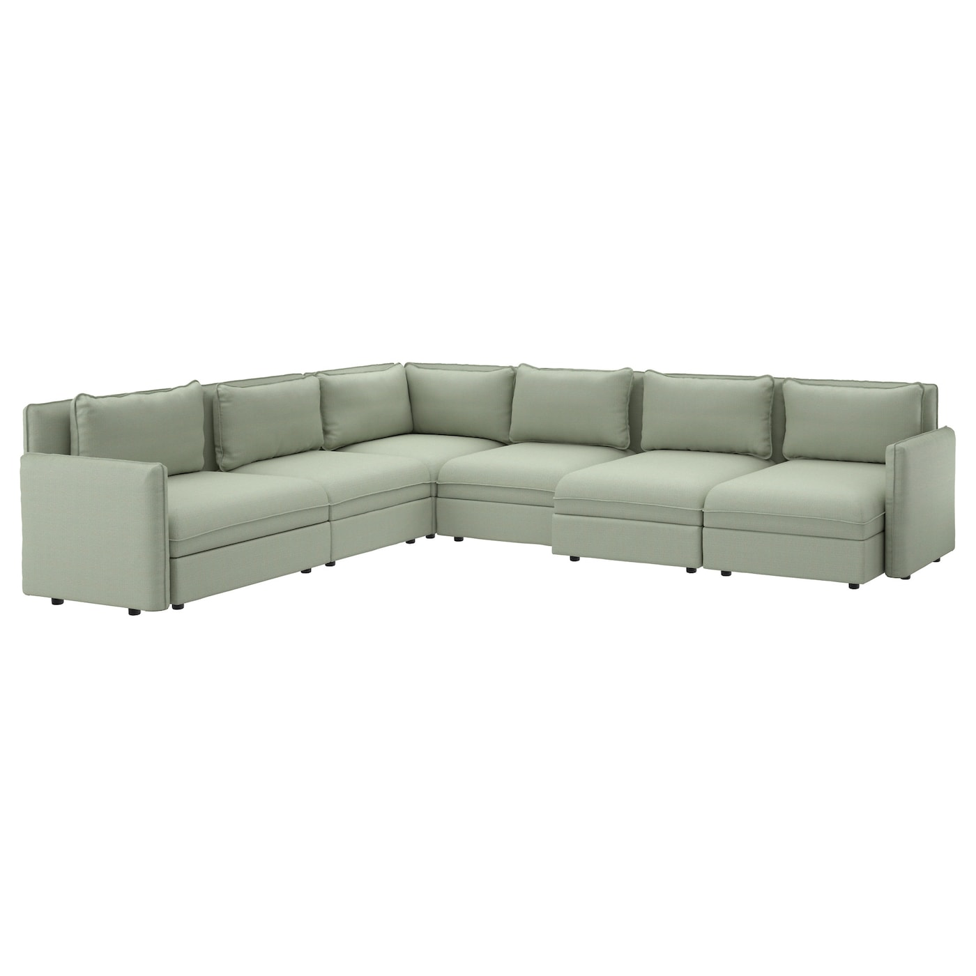vallentuna 6 seat corner sofa hillared green ikea. Black Bedroom Furniture Sets. Home Design Ideas