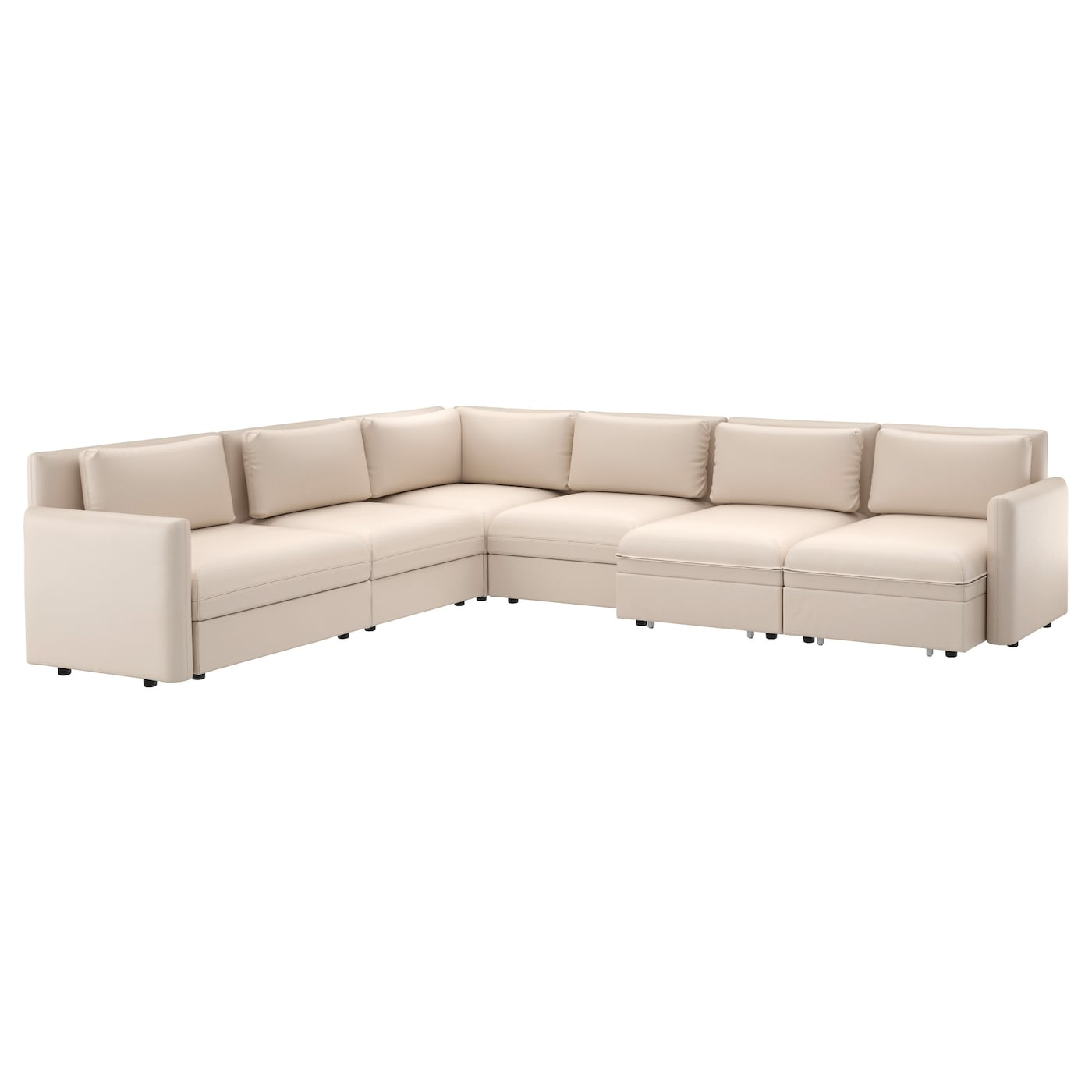 Vallentuna 6 seat corner sofa with bed murum beige ikea for Ikea couch planer