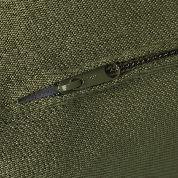 VALLENTUNA Cover for back cushion, Ramna olive-green