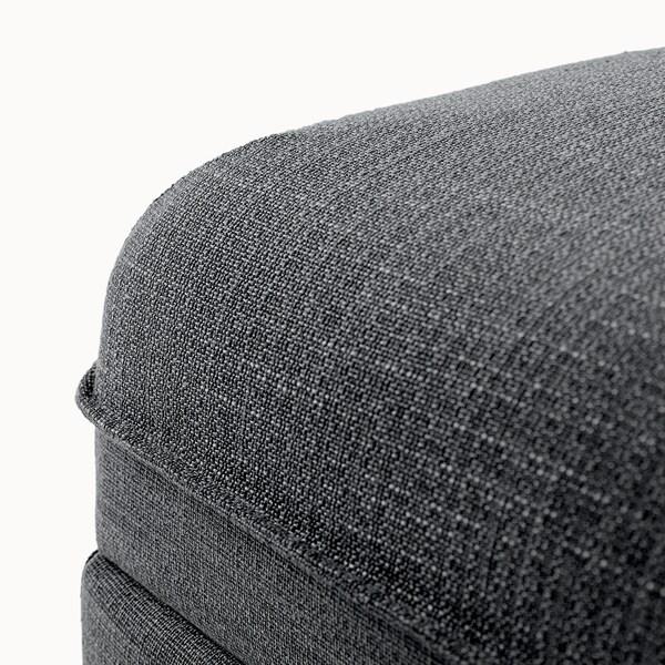 VALLENTUNA Cover for seat module with storage, Hillared dark grey