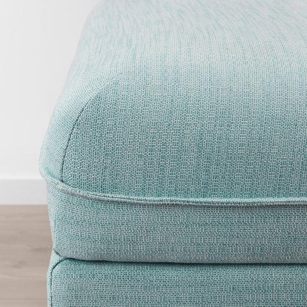 VALLENTUNA Sofa-bed module, Hillared light blue
