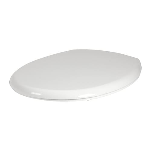 VALLOXEN Toilet seat IKEA Hinges with integrated dampers catch the toilet seat and close it slowly, silently and softly.
