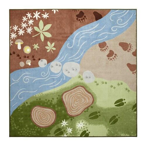 VANDRING SPÅR Rug, low pile, brown, green