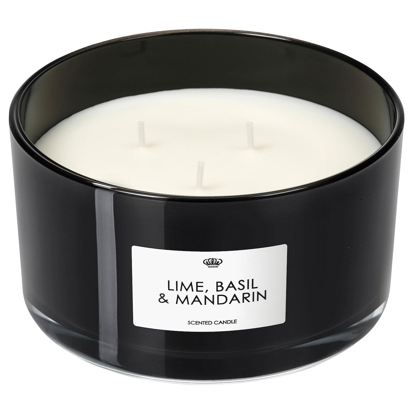 Lime Basil /& Mandarin Handpoured Scented Tea Lights Candles Tealights pack of 6
