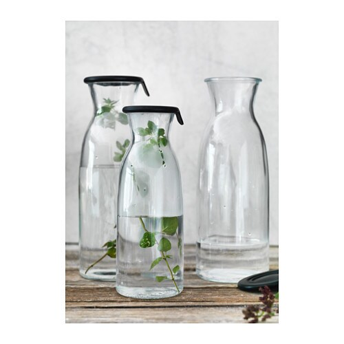 vardagen carafe with lid clear glass 0 5 l ikea. Black Bedroom Furniture Sets. Home Design Ideas