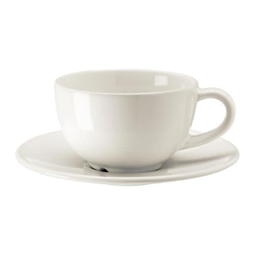 IKEA VARDAGEN coffee cup and saucer