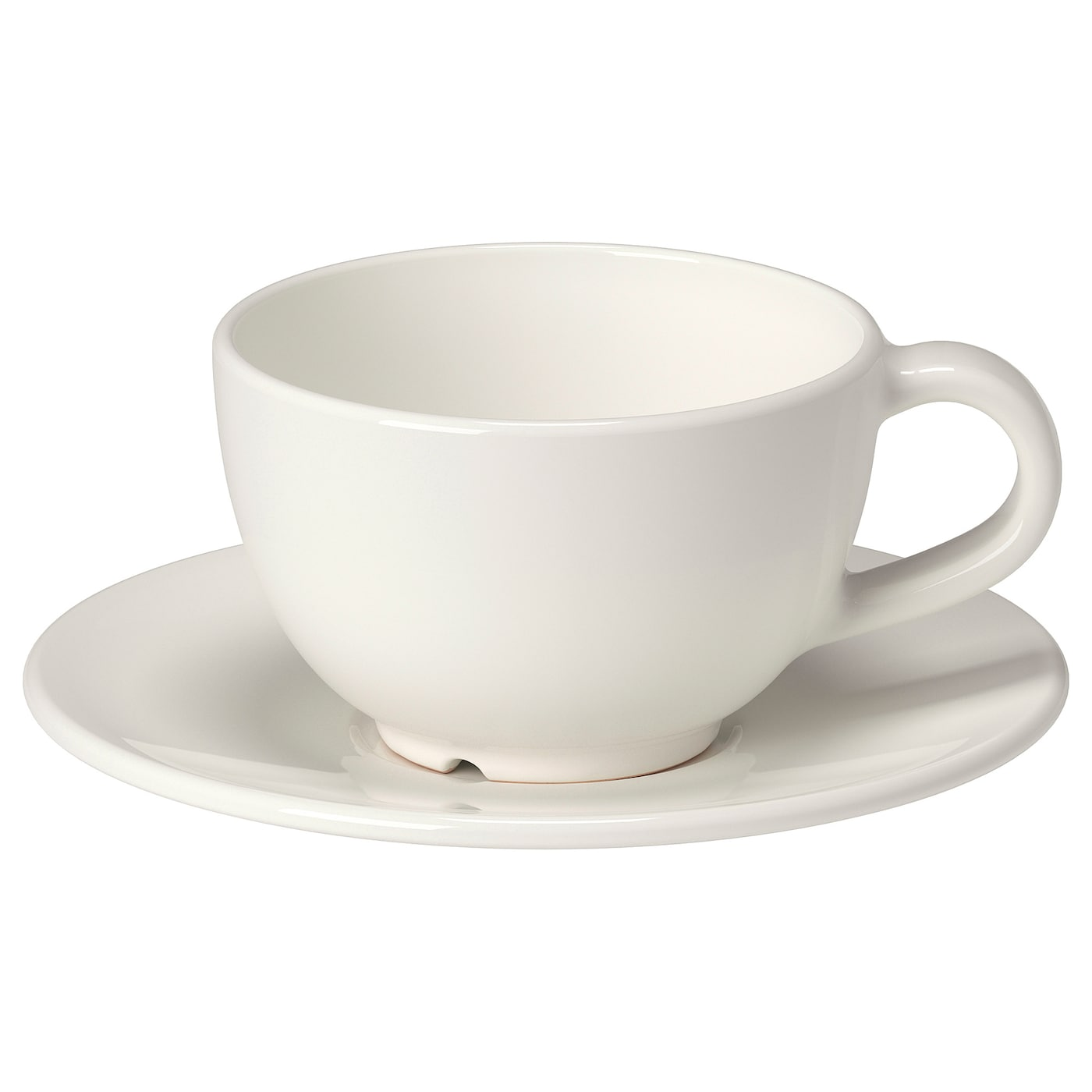 VARDAGEN Coffee cup and saucer off white IKEA