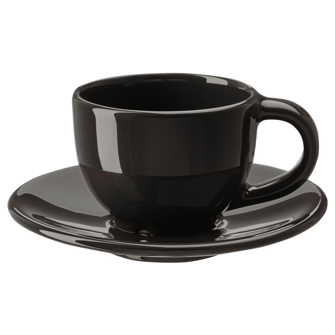 Glass espresso coffee cups uk - Ikea Vardagen Espresso Cup And Saucer
