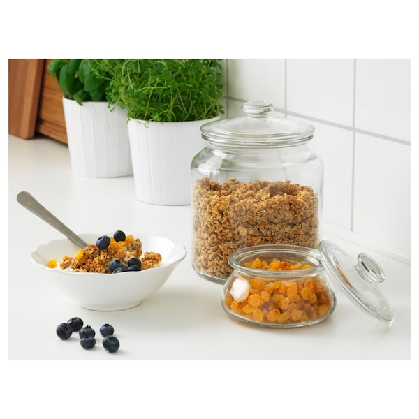 VARDAGEN Jar with lid, clear glass, 0.3 l