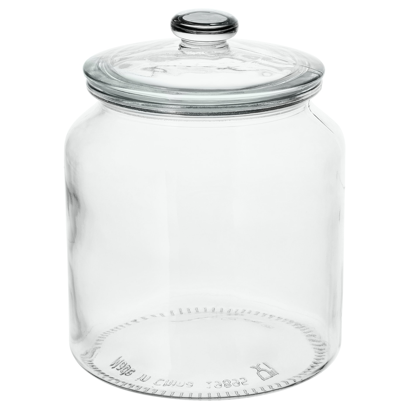 VARDAGEN Jar with lid - clear glass 9.9 l