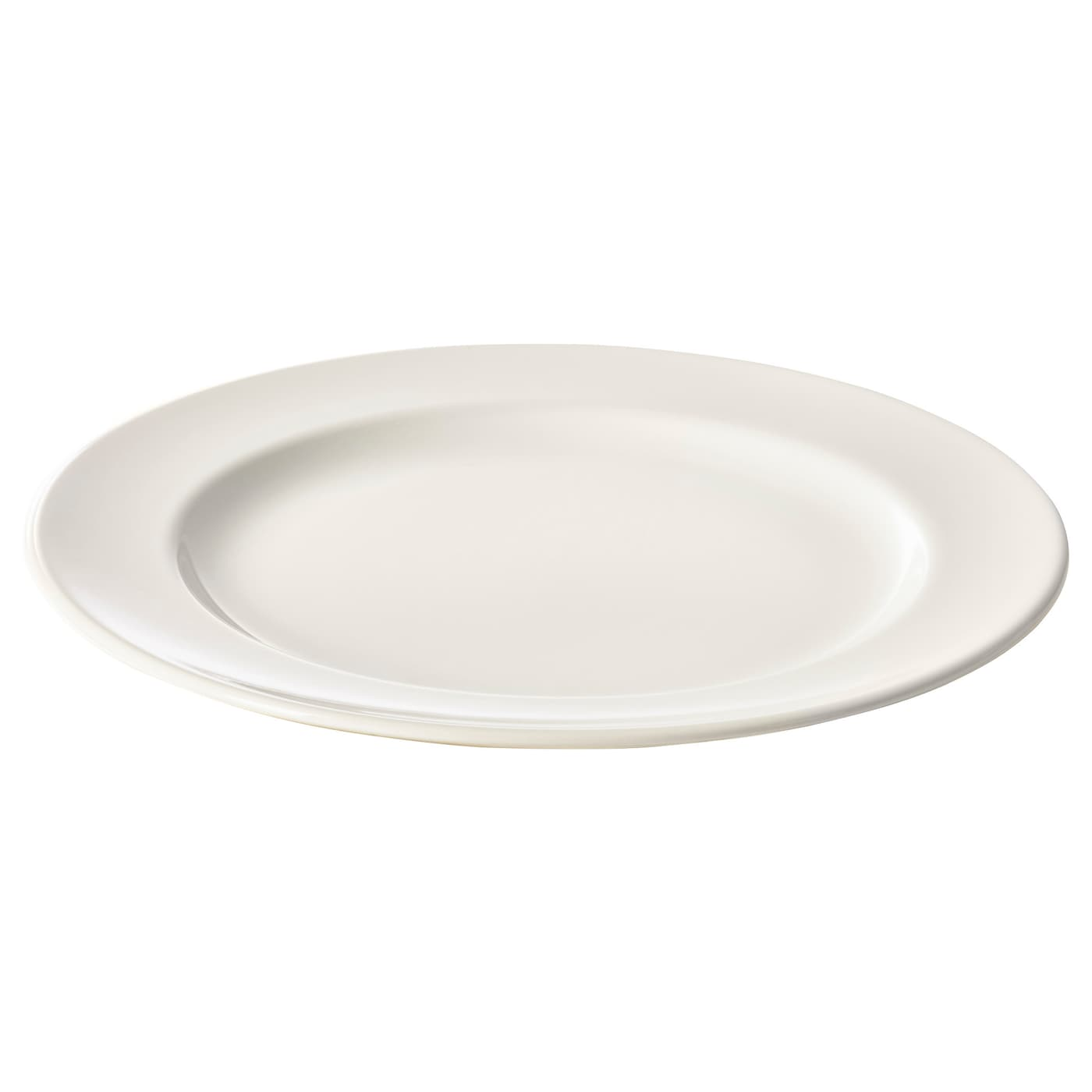 Vardagen plate off white 26 cm ikea for Plain white plates ikea