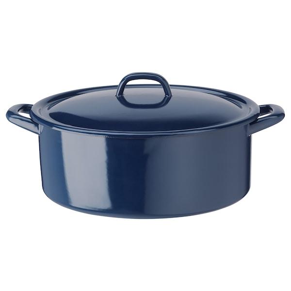VARDAGEN Pot with lid, enamelled steel, 5 l