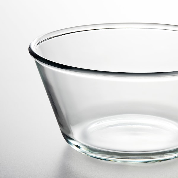 VARDAGEN serving bowl clear glass 7 cm 20 cm