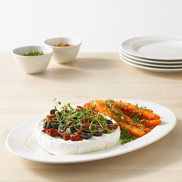 VARDAGEN Serving plate, off-white, 35x23 cm