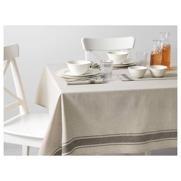 VARDAGEN tablecloth beige 240 cm 145 cm