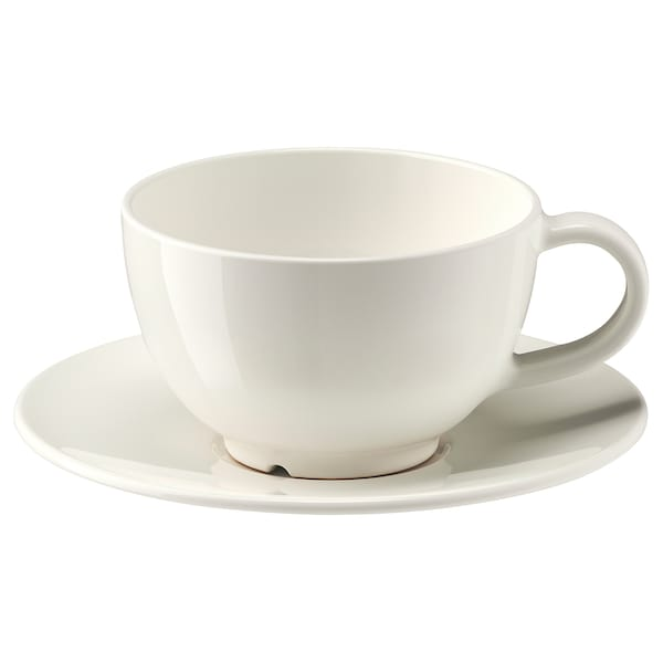 VARDAGEN Coffee cup and saucer, off white IKEA | Coffee