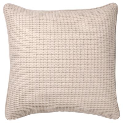 VÅRELD Cushion cover, light beige, 50x50 cm