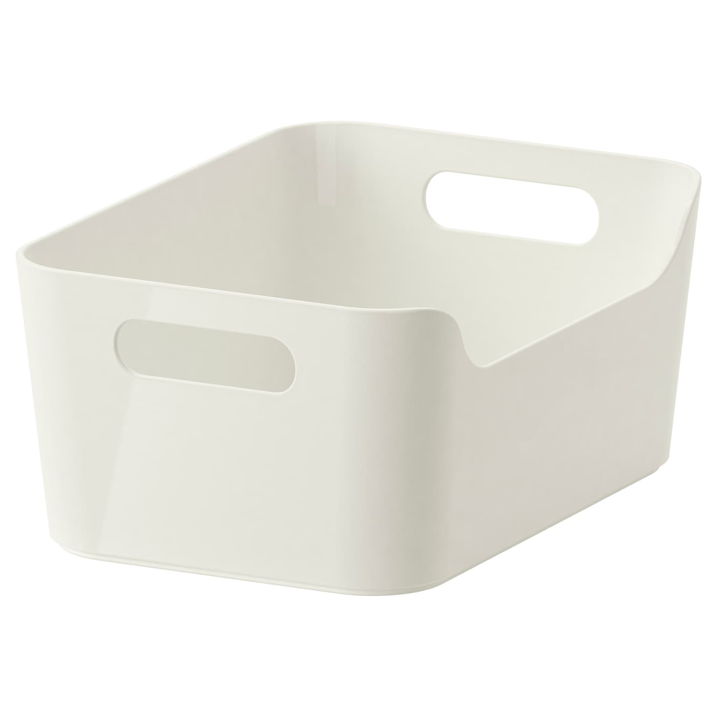 Variera box white 24x17 cm ikea - Bac plastique transparent ikea ...