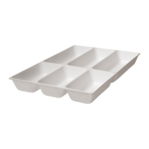 VARIERA Cutlery tray IKEA Makes it easier to organise and find what you need in the drawer.  Rounded corners for easy cleaning.