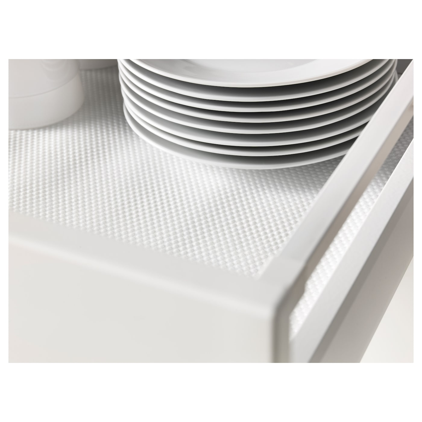 IKEA VARIERA drawer mat Dampens sounds and protects drawers and shelves against scratching.