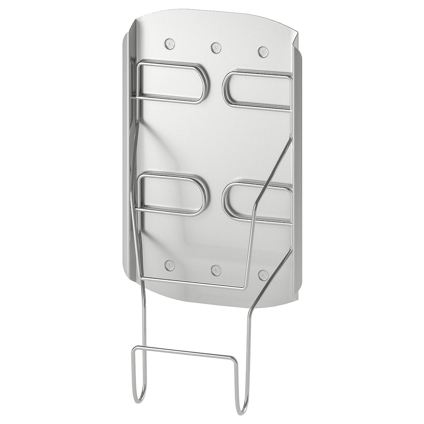IKEA VARIERA holder for iron Keeps things inside your cleaning cabinet organised and easy to access.