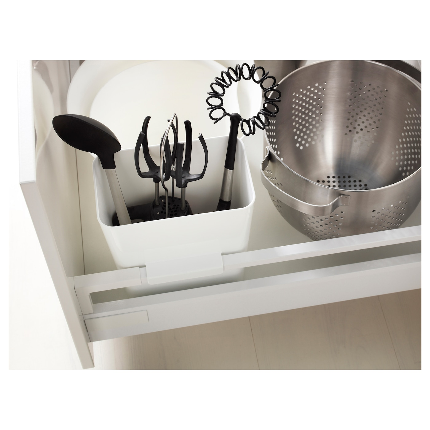 Ikea Variera Kitchen Utensil Rack Easy To Use By Hanging On The Side Of Drawer