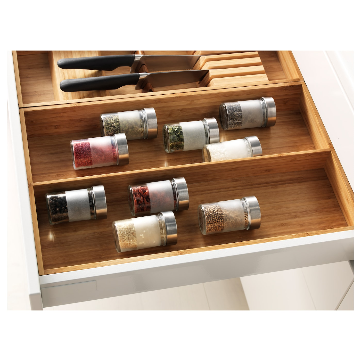 IKEA VARIERA utensil tray Helps you organize things in the drawer.