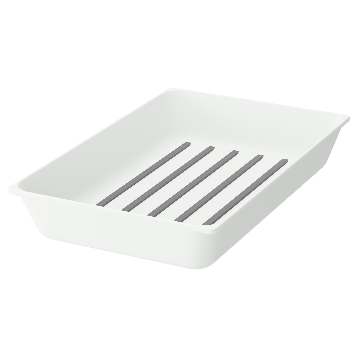 IKEA VARIERA utensil tray The plastic material and the rounded corners make cleaning easier.