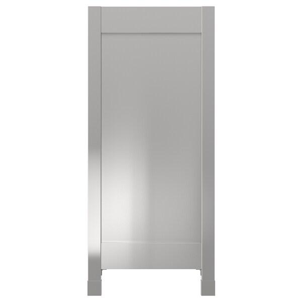 VÅRSTA cover panel with legs stainless steel 39 cm 88 cm 4 cm
