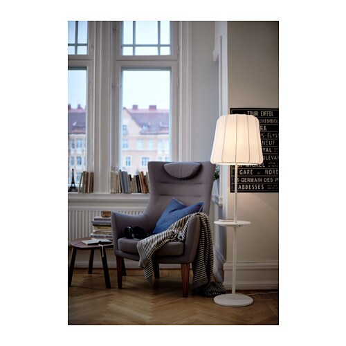 Ikea Küchen Eckunterschrank ~ Floor lamp with wireless charging VARV