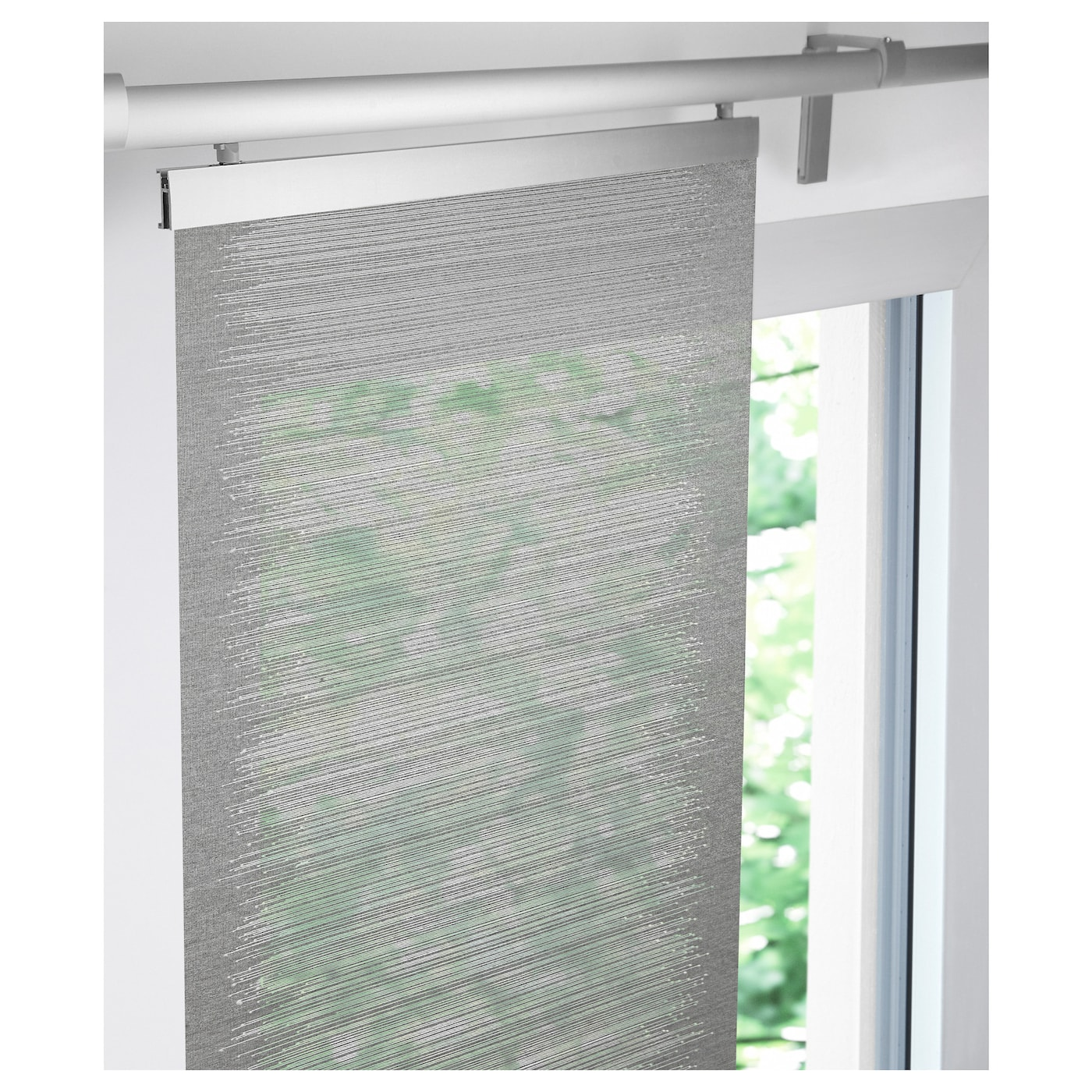 Vattenax panel curtain grey white 60x300 cm ikea for White curtains ikea