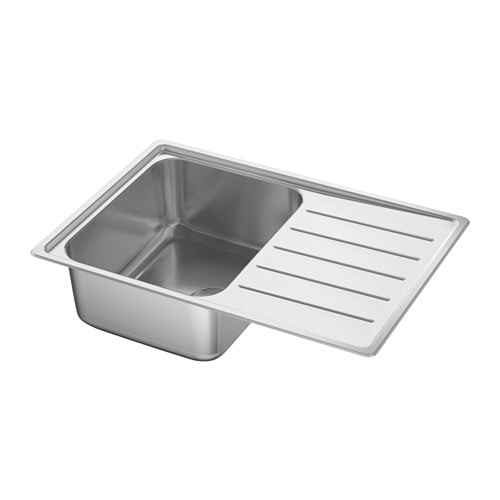 vattudalen inset sink 1 bowl with drainboard ikea. Black Bedroom Furniture Sets. Home Design Ideas