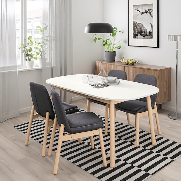 Vedbo White Dining Table Ikea